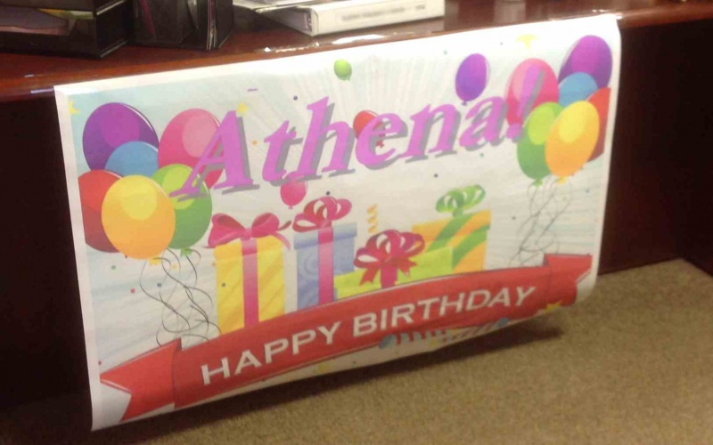 Happy Birthday Athena