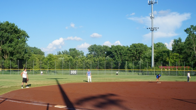 Outfield and Blue Sky